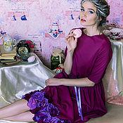 """Одежда ручной работы. Ярмарка Мастеров - ручная работа Платье """"Амарантовый маджента"""".. Handmade."""