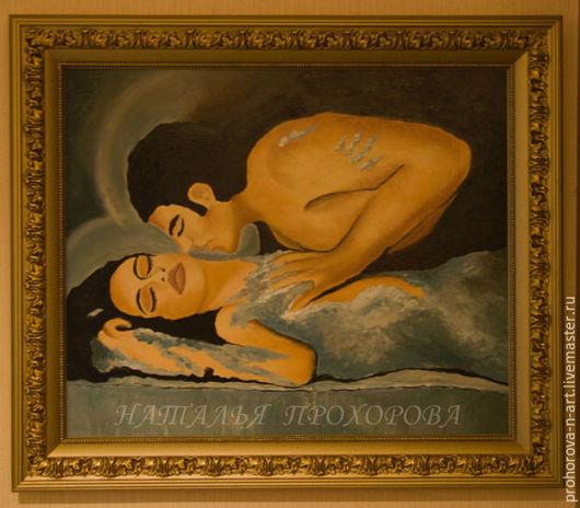 """Люди, ручной работы. Ярмарка Мастеров - ручная работа. Купить Картина маслом """"Пигмалион и Галатея"""". Handmade. Разноцветный, картина маслом"""