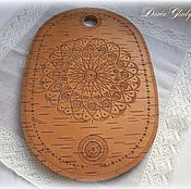 "Подарки к праздникам handmade. Livemaster - original item Birch bark сutting board from Russia ""Birch bark touch"". Handmade."