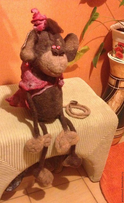 Игрушки животные, ручной работы. Ярмарка Мастеров - ручная работа. Купить Валяная игрушка обезьянка Чика. Handmade. войлочные игрушки