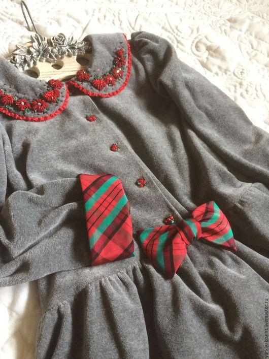 Одежда для девочек, ручной работы. Ярмарка Мастеров - ручная работа. Купить Платье ПТЛ 1024. Handmade. Серый, клетка для декора
