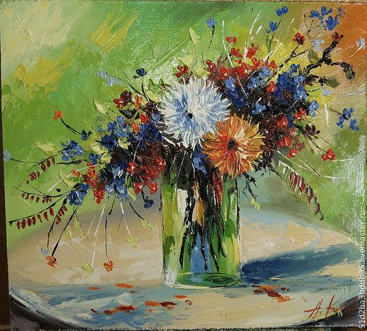 Картины цветов ручной работы. Ярмарка Мастеров - ручная работа. Купить Летний фестиваль. Handmade. Картина, картина для интерьера, цветы