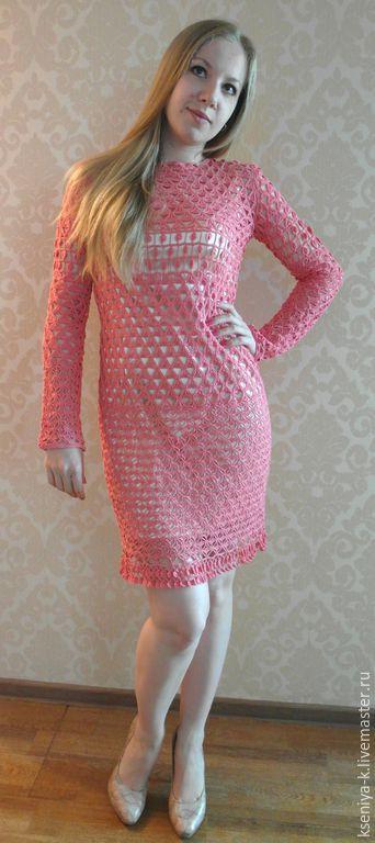Платья ручной работы. Ярмарка Мастеров - ручная работа. Купить Коралловое платье. Handmade. Коралловый, платье, Коктейльное платье