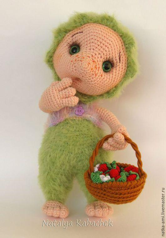 Человечки ручной работы. Ярмарка Мастеров - ручная работа. Купить Хуха Моховинка вязаная игрушка кукла. Handmade. кукла вязаная
