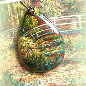 Украшения handmade. Livemaster - original item painting landscape  lacquer miniature the painting on the stone. Handmade.