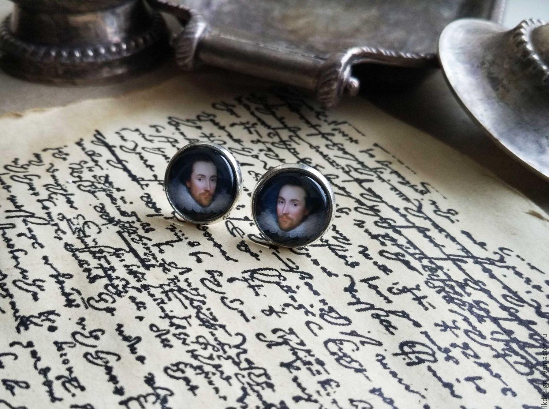 Silver plated earrings Shakespeare, Earrings, Moscow,  Фото №1