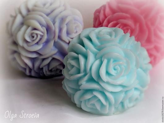Мыло ручной работы. Ярмарка Мастеров - ручная работа. Купить Розы под инеем - мыло ручной работы. Handmade. мыло