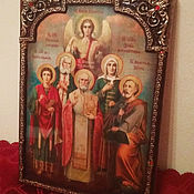 Картины и панно handmade. Livemaster - original item The family icon to order - hot paints for wood. Handmade.