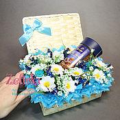 Цветы и флористика ручной работы. Ярмарка Мастеров - ручная работа Подарок на 8 марта Сундуки с конфетами сотрудницам корпоративные. Handmade.