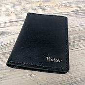 Канцелярские товары handmade. Livemaster - original item Leather passport cover. Handmade.