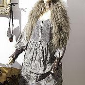Одежда ручной работы. Ярмарка Мастеров - ручная работа Туника  платье Eleanor -бохо  двойная юбка, завязки. Handmade.