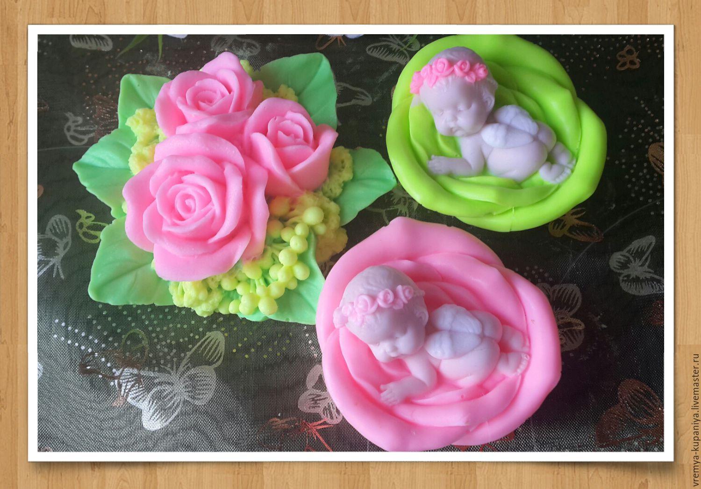 """3D Силиконовая форма для мыла """"Ангелочек на розе"""", Формы, Владивосток, Фото №1"""