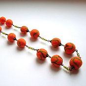 """Украшения ручной работы. Ярмарка Мастеров - ручная работа Бусы """"Оранжевые"""". Handmade."""