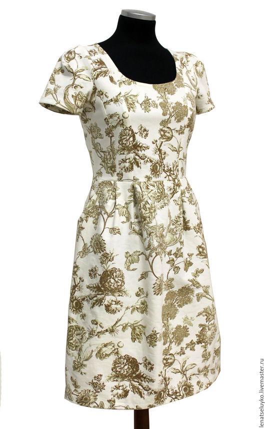 """Платья ручной работы. Ярмарка Мастеров - ручная работа. Купить Джинсовое платье """"Нежность весны"""". Handmade. Бежевый, платье на заказ"""