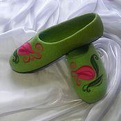 Обувь ручной работы. Ярмарка Мастеров - ручная работа Тюльпаны. Валяные тапочки.. Handmade.
