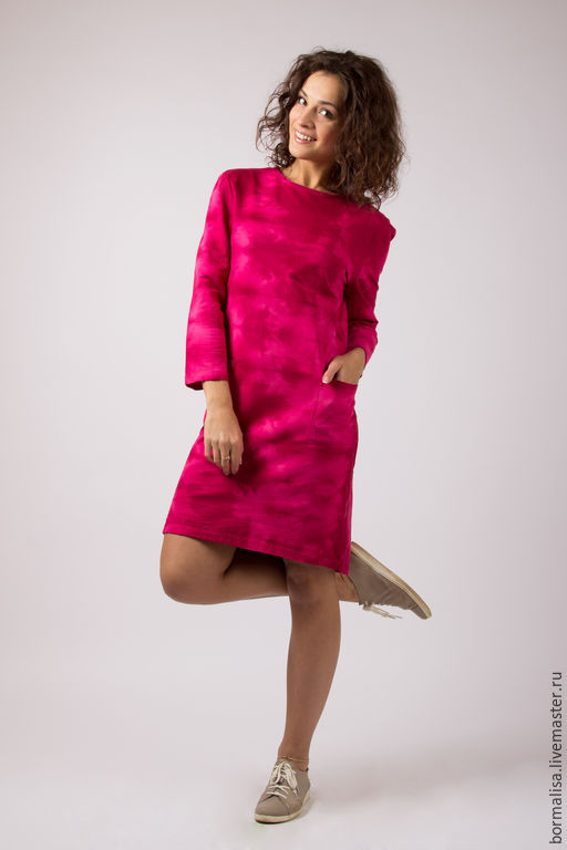 """Платья ручной работы. Ярмарка Мастеров - ручная работа. Купить Платье """"Varenka"""". Handmade. Бордовый, хлопковое платье, вареная расцветка"""