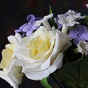 Свадебный салон ручной работы. Ярмарка Мастеров - ручная работа Букет невесты.Свадебный букет с розами и гортензией.Букет холодный фар. Handmade.