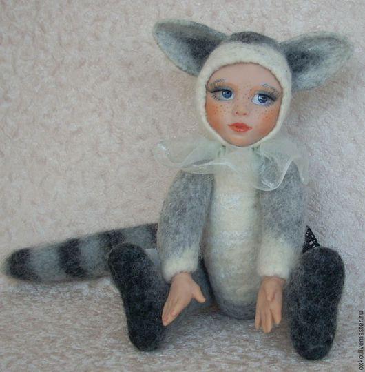 тедди долл енотик Нэна, авторская кукла