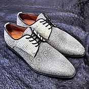 Обувь ручной работы handmade. Livemaster - original item Varan (lizard) genuine leather derby, custom made!. Handmade.