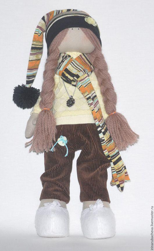 Куклы тыквоголовки ручной работы. Ярмарка Мастеров - ручная работа. Купить Текстильная кукла Гномочка. Handmade. Желтый, кукла текстильная