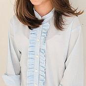 Кофты ручной работы. Ярмарка Мастеров - ручная работа Детская хлопковая блузка с рюшами, школьная форма. Handmade.