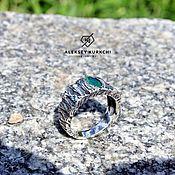 """Кольца ручной работы. Ярмарка Мастеров - ручная работа Оригинальное кольцо """"Изумрудное"""". Handmade."""