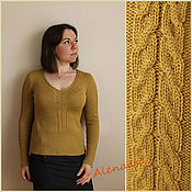 """Одежда ручной работы. Ярмарка Мастеров - ручная работа Пуловер """"Охра"""". Handmade."""