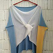 Одежда ручной работы. Ярмарка Мастеров - ручная работа КН_003_ГШБел Блузон 3-хцветный. Handmade.