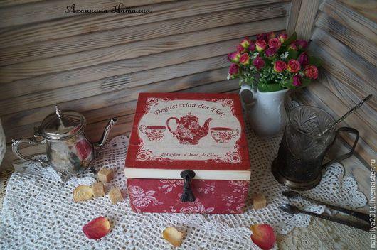"""Кухня ручной работы. Ярмарка Мастеров - ручная работа. Купить """"Чайные традиции""""-Чайная шкатулка. Handmade. Чайная шкатулка"""
