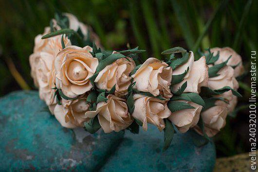 Диадемы, обручи ручной работы. Ярмарка Мастеров - ручная работа. Купить Ободок из роз фоамиран. Handmade. Комбинированный, ободок для девушки