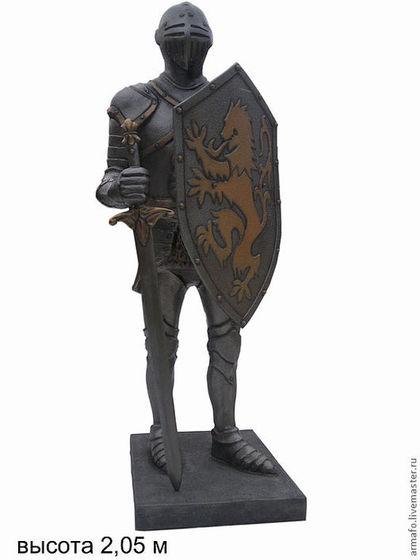 Экстерьер и дача ручной работы. Ярмарка Мастеров - ручная работа. Купить Рыцарь. Handmade. Скульптура, стекловолокно, фигуры, автоэмаль
