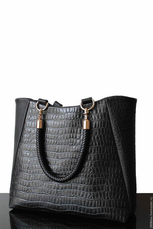 """Женские сумки ручной работы. Ярмарка Мастеров - ручная работа. Купить """"Toronto"""" кожаная сумка, Деловой стиль, черная сумка, сумка. Handmade."""