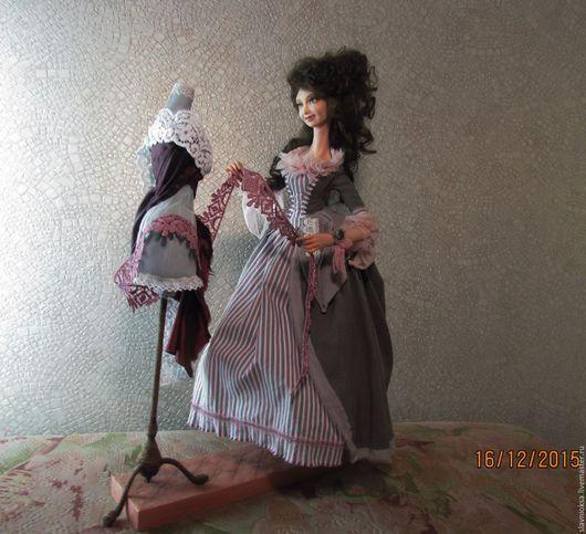 Коллекционные куклы ручной работы. Ярмарка Мастеров - ручная работа. Купить Авторская кукла МОДИСТКА. Handmade. Модистка, индивидуальный пошив