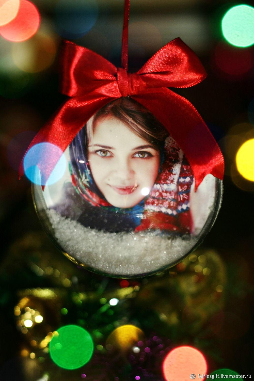 Новогодний шар с Вашим фото, Елочные игрушки, Москва,  Фото №1