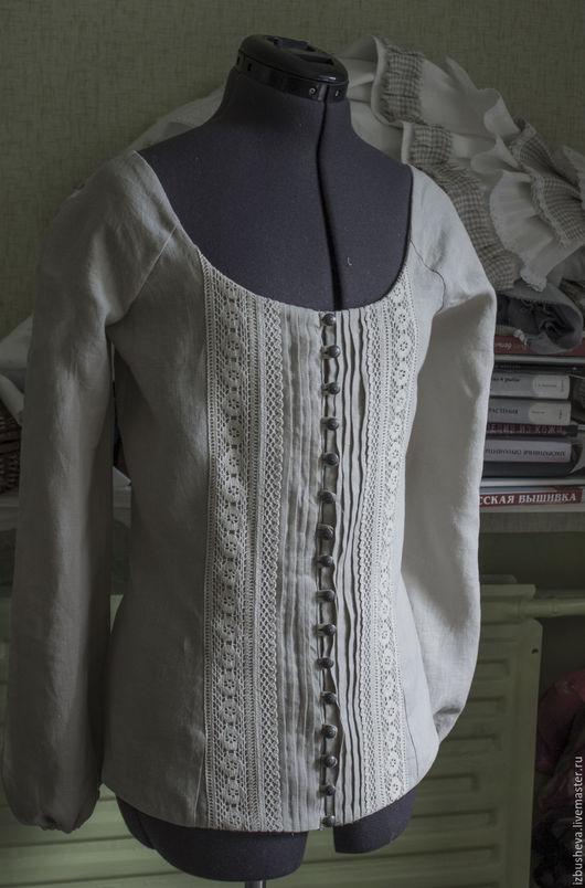 Костюмы ручной работы. Ярмарка Мастеров - ручная работа. Купить Льняной костюм из блузы и юбки. Handmade. Серый, льняная блуза