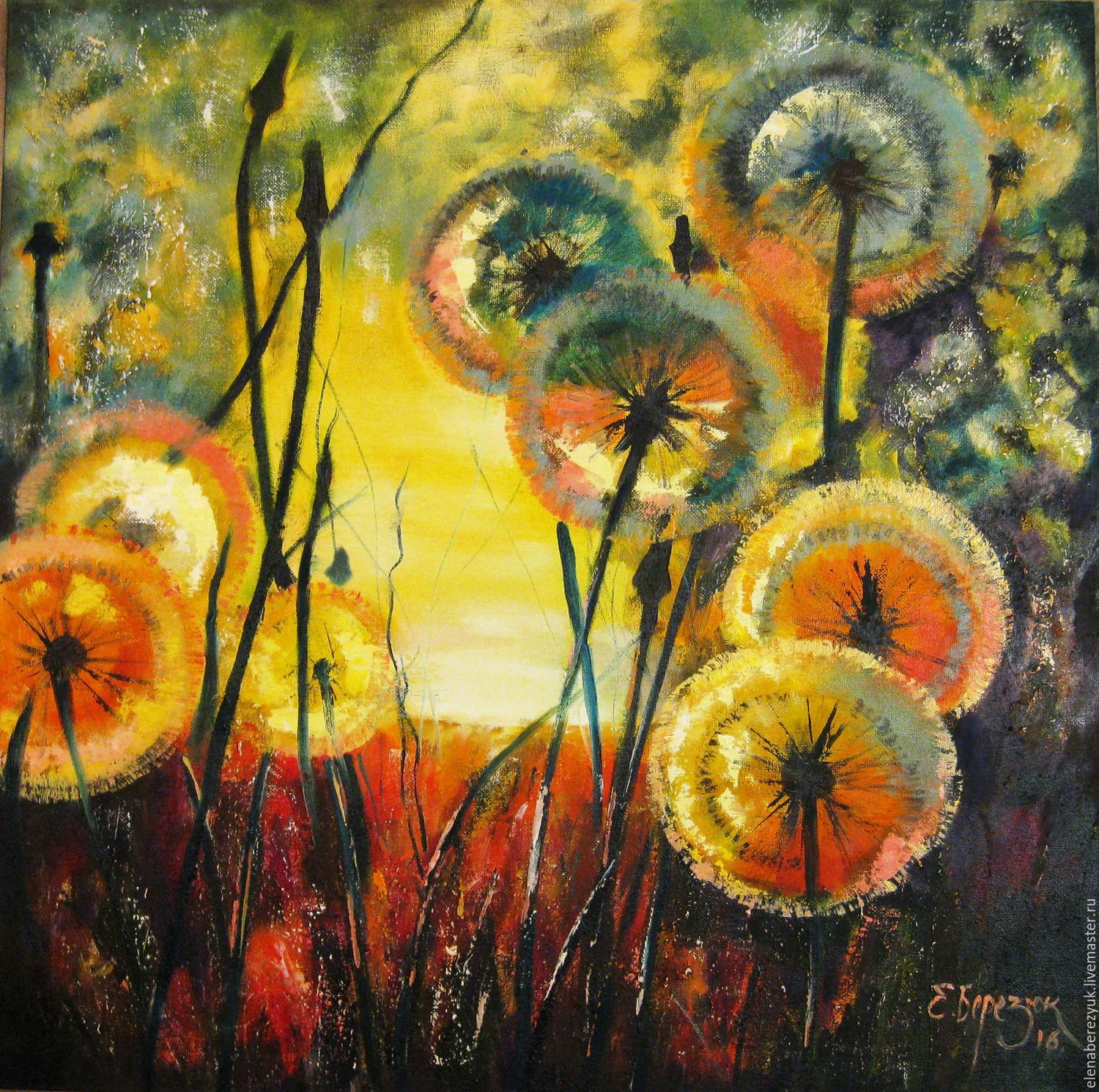 Evening whispers oil painting on canvas painting of for Selling oil paintings online