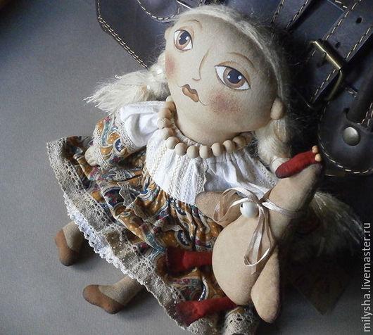 Текстильная кукла Валентина и Гусь.