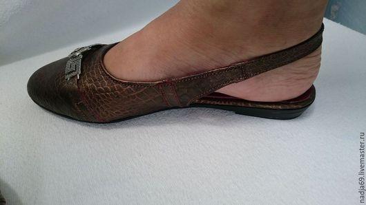 Обувь ручной работы. Ярмарка Мастеров - ручная работа. Купить Босоножки с закрытым носком. Handmade. Рыжий, обувь ручной работы