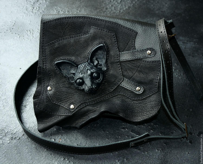 Маленькая чёрная сумка . Клатч. Женские сумки ручной работы. Ярмарка  Мастеров - ручная работа. Купить Сумка кожаная -