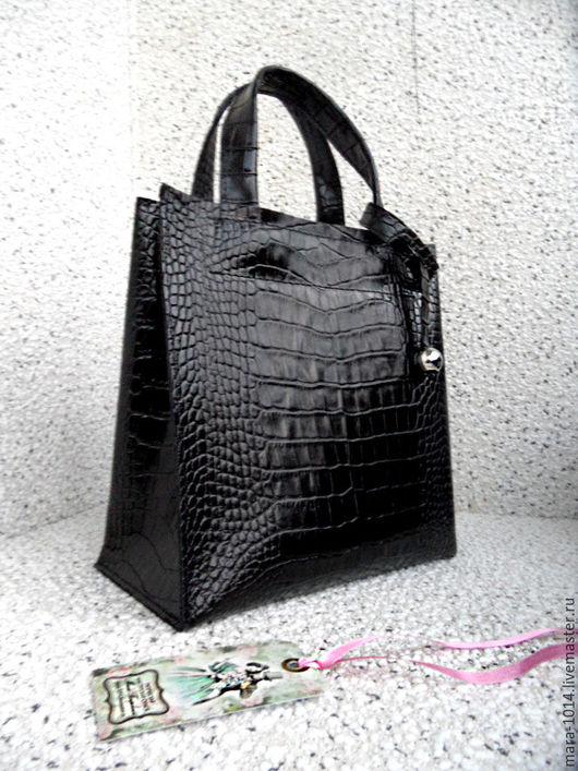 Женские сумки ручной работы. Ярмарка Мастеров - ручная работа. Купить СИТИ модификация, черная кожаная сумка. Handmade. Черный