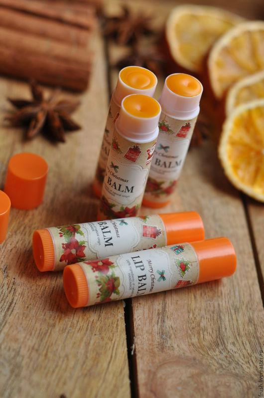 Бальзам для губ ручной работы. Ярмарка Мастеров - ручная работа. Купить Апельсин, натуральный бальзам для губ с облепиховым маслом. Handmade.