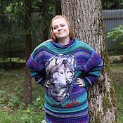 """Одежда ручной работы. Ярмарка Мастеров - ручная работа Свитер """"Волчица"""". Handmade."""