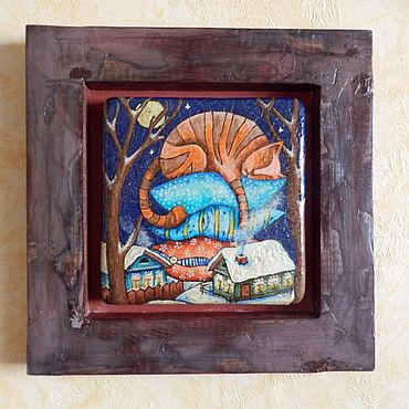 Картины и панно ручной работы. Ярмарка Мастеров - ручная работа Картины: Зимняя сказка. Handmade.