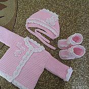 Комплекты одежды ручной работы. Ярмарка Мастеров - ручная работа Подарок приданое девочке на рождение или выписку. Handmade.