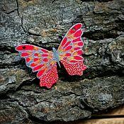 """Украшения ручной работы. Ярмарка Мастеров - ручная работа Деревянные значки """"Бабочки"""" в ассортименте. Handmade."""
