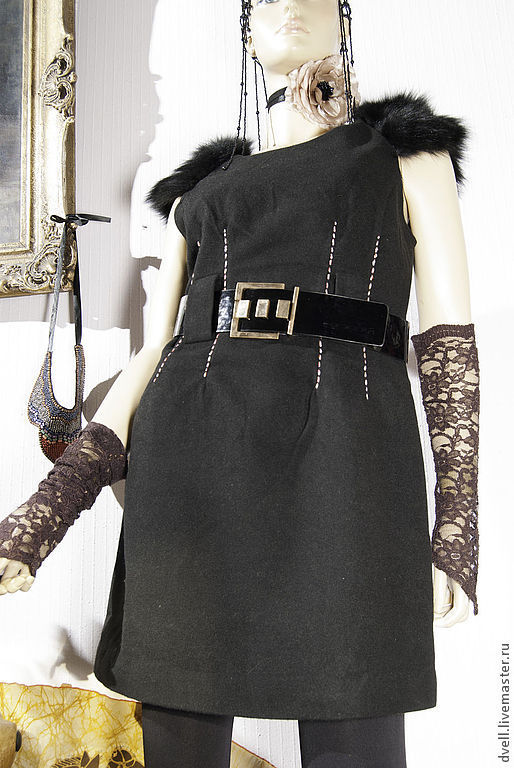 Платья ручной работы. Ярмарка Мастеров - ручная работа. Купить Гламур бохо, маленькое  черное  платье, стильледи шик 44 46 48. Handmade.
