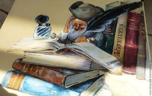 """Детская ручной работы. Ярмарка Мастеров - ручная работа. Купить """"Сказка на ночь"""". Handmade. Добрые сны, роспись мебели"""