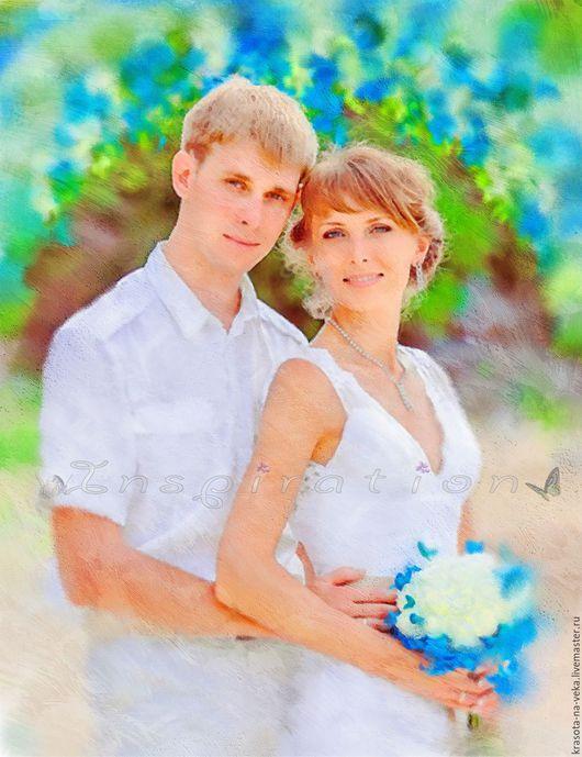 Свадебный портрет (масло).