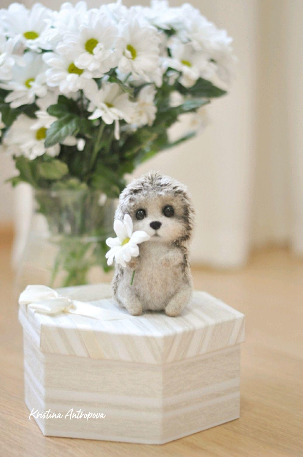 hedgehog felted toy, Felted Toy, Arkhangelsk,  Фото №1