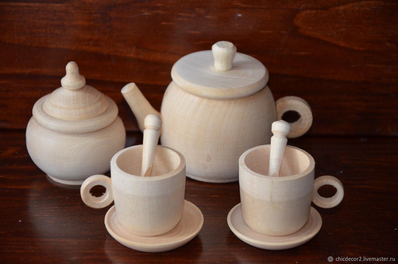 Чайный набор на 2персоны (средний), Кукольная еда, Москва,  Фото №1